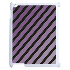 Purple Elegant Lines Apple Ipad 2 Case (white) by Valentinaart