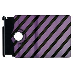 Purple Elegant Lines Apple Ipad 3/4 Flip 360 Case by Valentinaart