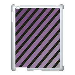 Purple Elegant Lines Apple Ipad 3/4 Case (white) by Valentinaart