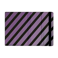 Purple Elegant Lines Ipad Mini 2 Flip Cases by Valentinaart