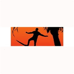 Man Surfing At Sunset Graphic Illustration Large Bar Mats by dflcprints