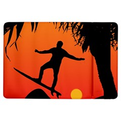 Man Surfing At Sunset Graphic Illustration Ipad Air Flip by dflcprints