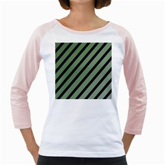Green Elegant Lines Girly Raglans by Valentinaart