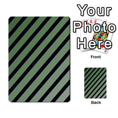 Green Elegant Lines Multi Purpose Cards (rectangle)  by Valentinaart