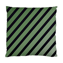 Green Elegant Lines Standard Cushion Case (one Side) by Valentinaart