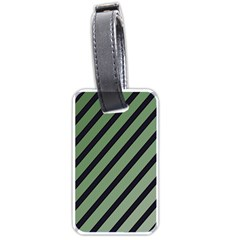 Green Elegant Lines Luggage Tags (one Side)  by Valentinaart