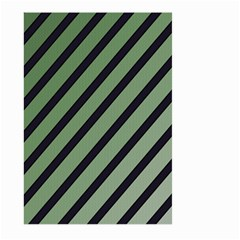 Green Elegant Lines Large Garden Flag (two Sides) by Valentinaart