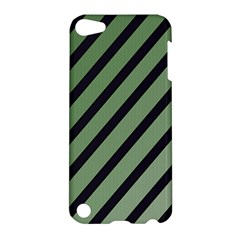 Green Elegant Lines Apple Ipod Touch 5 Hardshell Case by Valentinaart