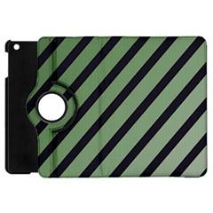 Green Elegant Lines Apple Ipad Mini Flip 360 Case by Valentinaart