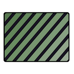 Green Elegant Lines Double Sided Fleece Blanket (small)  by Valentinaart