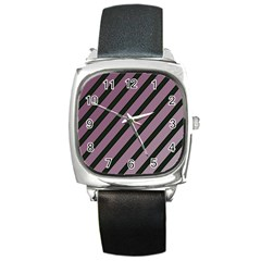Elegant Lines Square Metal Watch by Valentinaart
