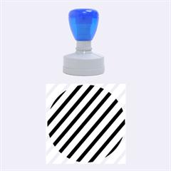 Elegant Lines Rubber Round Stamps (medium) by Valentinaart