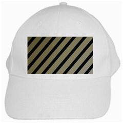 Decorative elegant lines White Cap