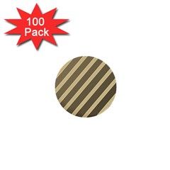 Golden Elegant Lines 1  Mini Buttons (100 Pack)  by Valentinaart