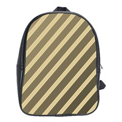 Golden Elegant Lines School Bags(large)  by Valentinaart
