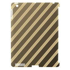 Golden Elegant Lines Apple Ipad 3/4 Hardshell Case (compatible With Smart Cover) by Valentinaart