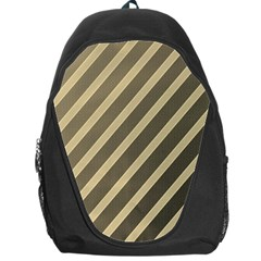 Golden Elegant Lines Backpack Bag by Valentinaart