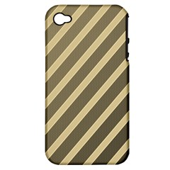 Golden Elegant Lines Apple Iphone 4/4s Hardshell Case (pc+silicone) by Valentinaart
