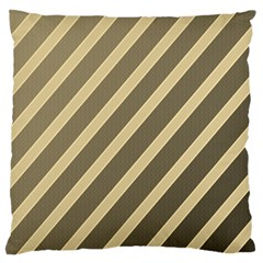 Golden Elegant Lines Standard Flano Cushion Case (one Side) by Valentinaart