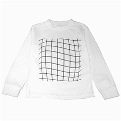 Simple Lines Kids Long Sleeve T Shirts by Valentinaart