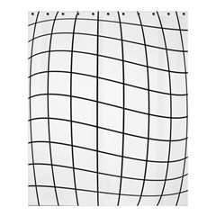 Simple Lines Shower Curtain 60  X 72  (medium)  by Valentinaart