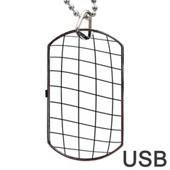 Simple Lines Dog Tag Usb Flash (one Side) by Valentinaart