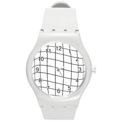 Simple Lines Round Plastic Sport Watch (m) by Valentinaart