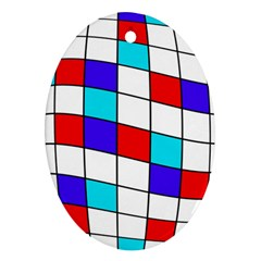 Colorful cubes  Ornament (Oval)  by Valentinaart