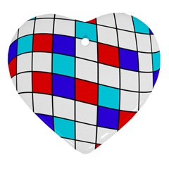 Colorful Cubes  Ornament (heart)  by Valentinaart