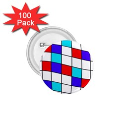 Colorful cubes  1.75  Buttons (100 pack)