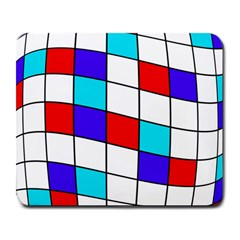 Colorful Cubes  Large Mousepads by Valentinaart