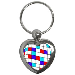Colorful Cubes  Key Chains (heart)  by Valentinaart