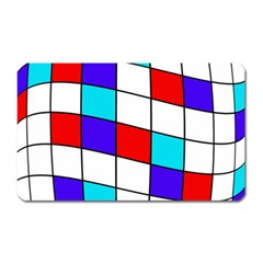Colorful Cubes  Magnet (rectangular) by Valentinaart
