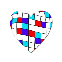 Colorful Cubes  Heart Magnet by Valentinaart