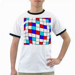 Colorful cubes  Ringer T-Shirts by Valentinaart