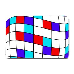 Colorful Cubes  Small Doormat  by Valentinaart