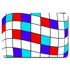 Colorful Cubes  Large Doormat  by Valentinaart