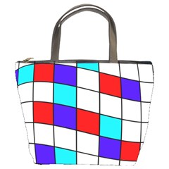 Colorful Cubes  Bucket Bags by Valentinaart
