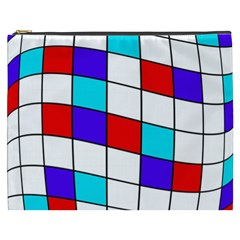 Colorful Cubes  Cosmetic Bag (xxxl)  by Valentinaart