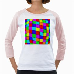 Colorful cubes Girly Raglans by Valentinaart