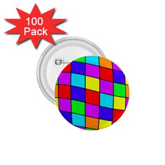 Colorful Cubes 1 75  Buttons (100 Pack)  by Valentinaart