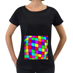 Colorful cubes Women s Loose-Fit T-Shirt (Black) by Valentinaart