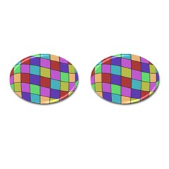 Colorful Cubes  Cufflinks (oval) by Valentinaart