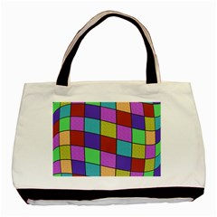 Colorful Cubes  Basic Tote Bag by Valentinaart