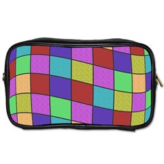 Colorful Cubes  Toiletries Bags 2 Side by Valentinaart