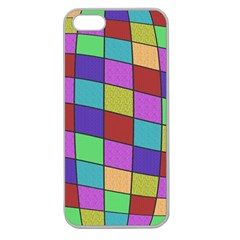 Colorful Cubes  Apple Seamless Iphone 5 Case (clear) by Valentinaart