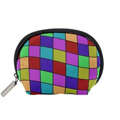 Colorful Cubes  Accessory Pouches (small)  by Valentinaart