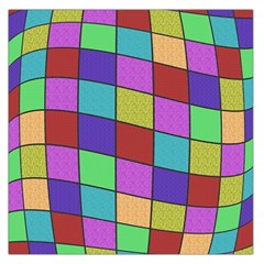 Colorful Cubes  Large Satin Scarf (square) by Valentinaart