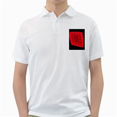 Red Abstraction Golf Shirts by Valentinaart