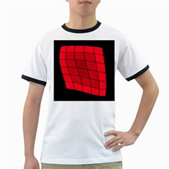 Red Abstraction Ringer T Shirts by Valentinaart